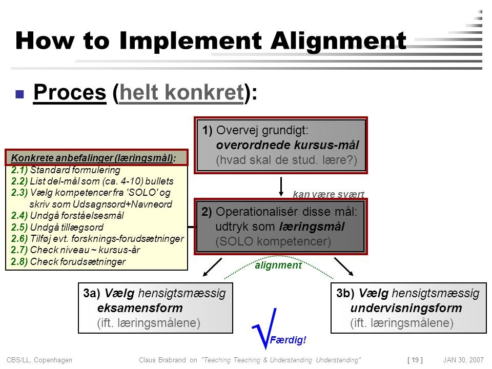 How to Implement Alignment