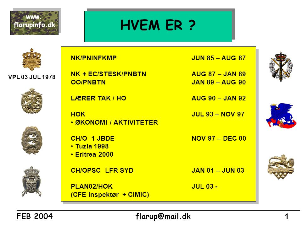 HVEM ER NK/PNINFKMP JUN 85 – AUG 87