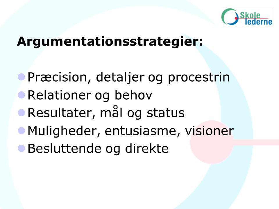 Argumentationsstrategier: