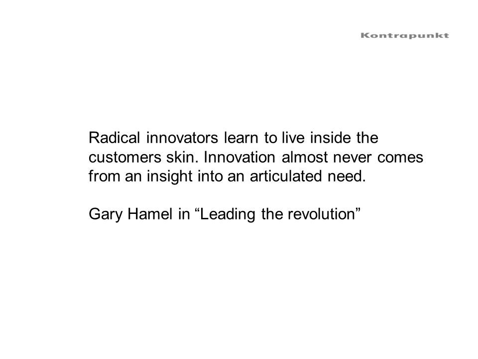 Radical innovators learn to live inside the
