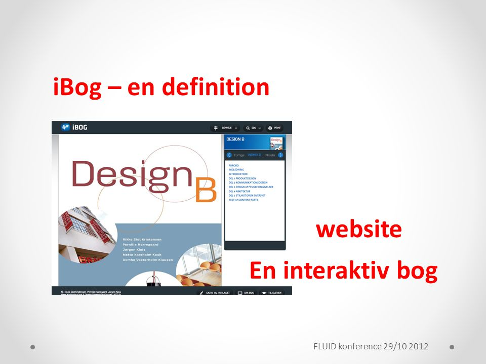 iBog – en definition website En interaktiv bog