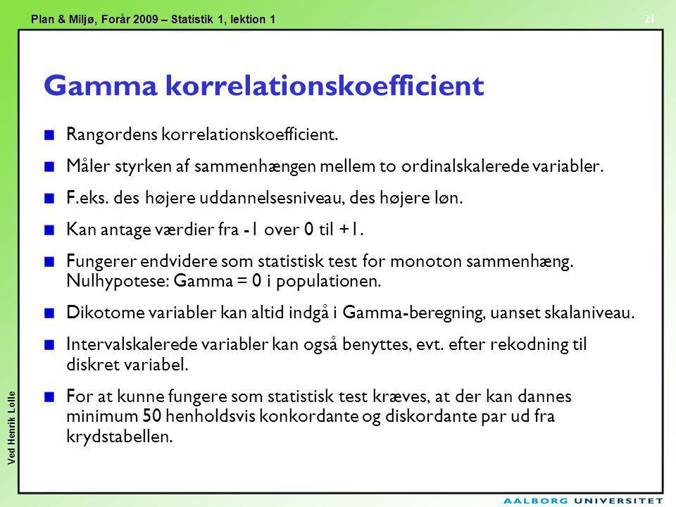 Gamma korrelationskoefficient