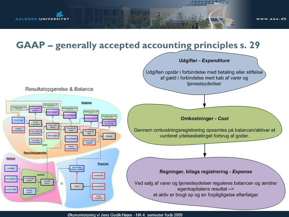 GAAP – generally accepted accounting principles s. 29