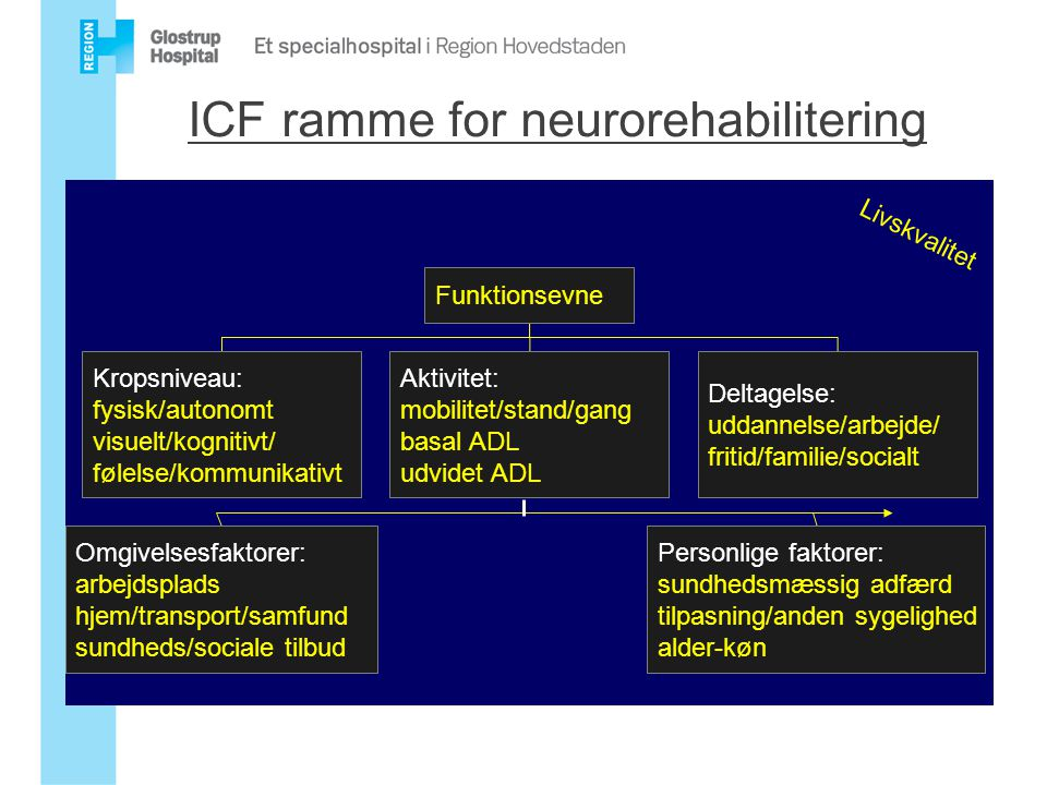 ICF ramme for neurorehabilitering