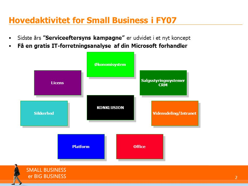 Hovedaktivitet for Small Business i FY07
