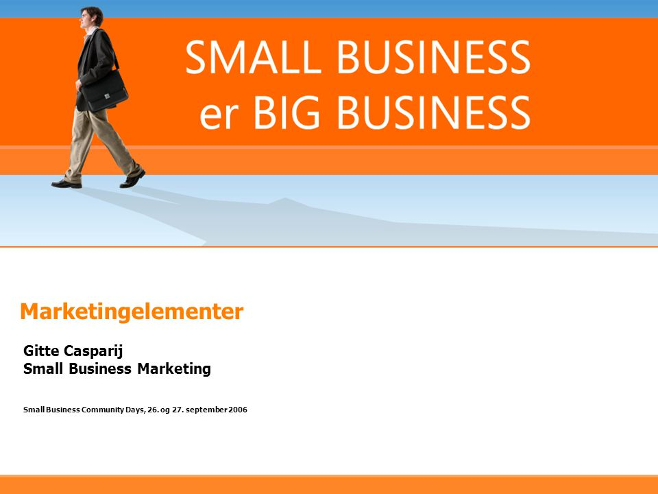 Marketingelementer Gitte Casparij Small Business Marketing