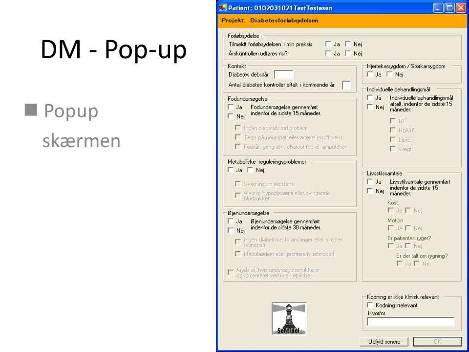DM - Pop-up Popup skærmen
