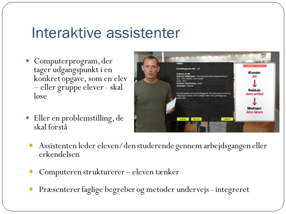 Interaktive assistenter