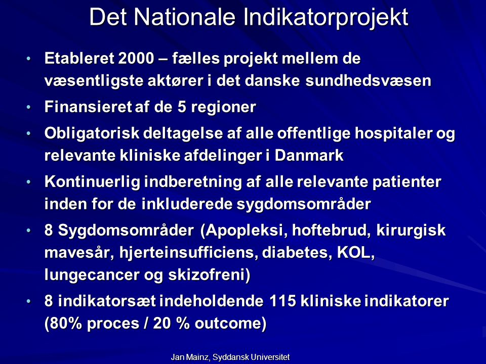 Det Nationale Indikatorprojekt
