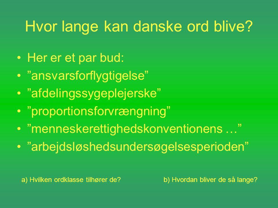 lange danske ord