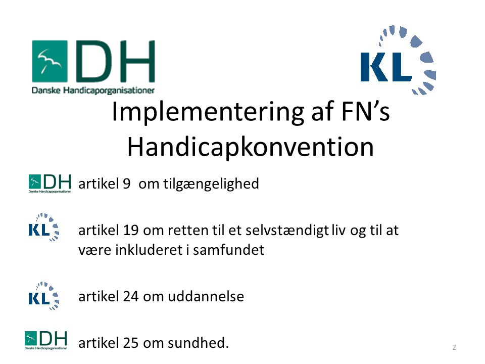 Implementering af FN's Handicapkonvention