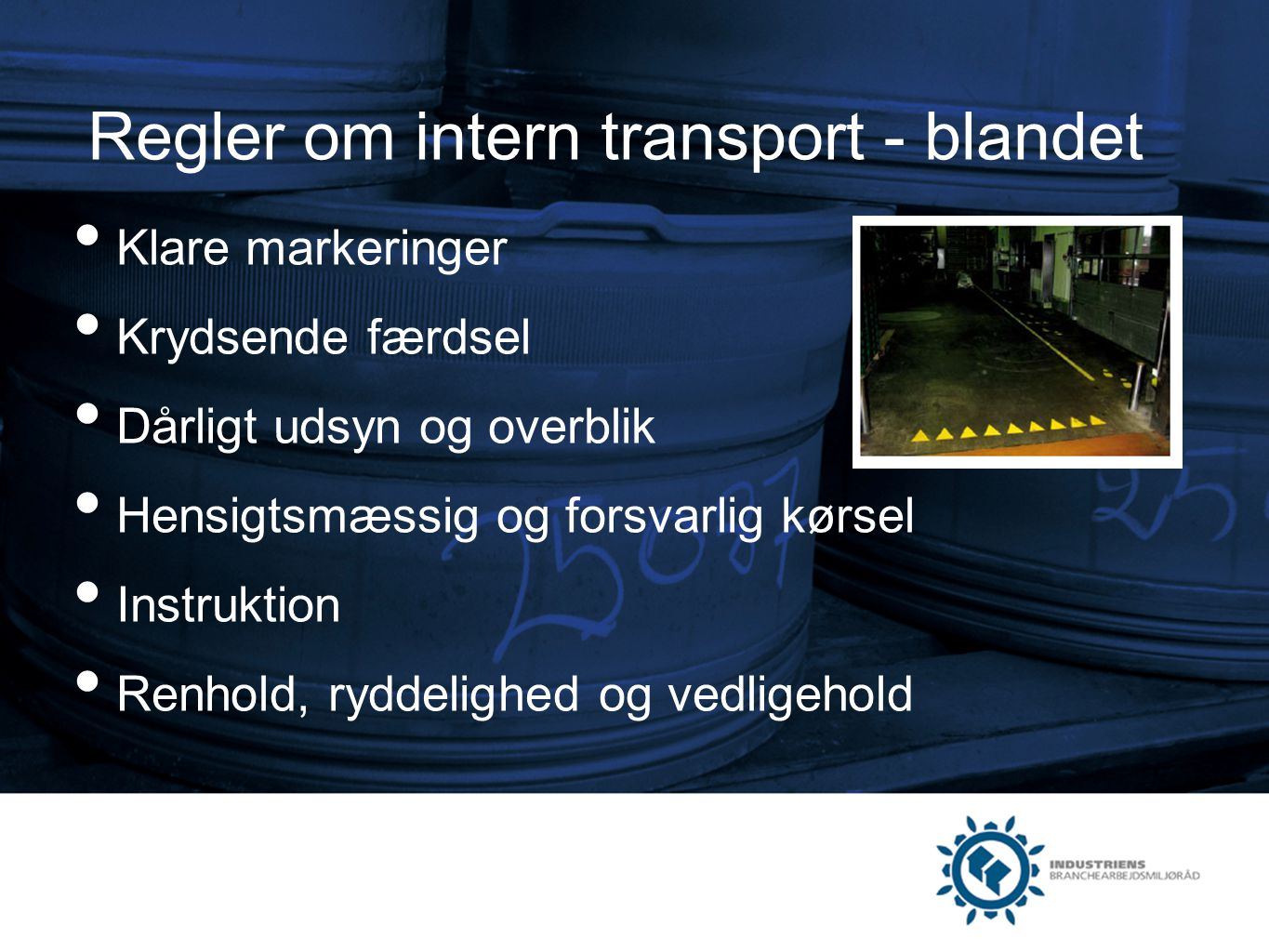 Regler om intern transport - blandet