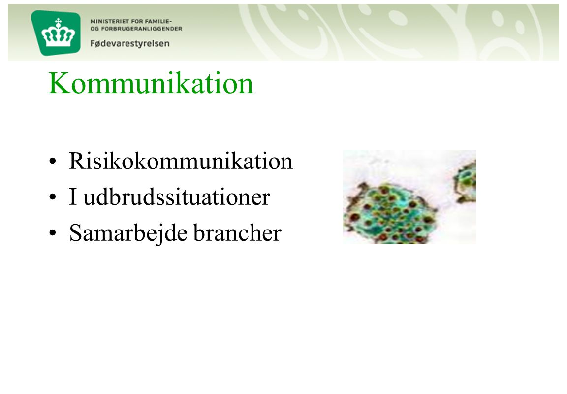 Kommunikation Risikokommunikation I udbrudssituationer
