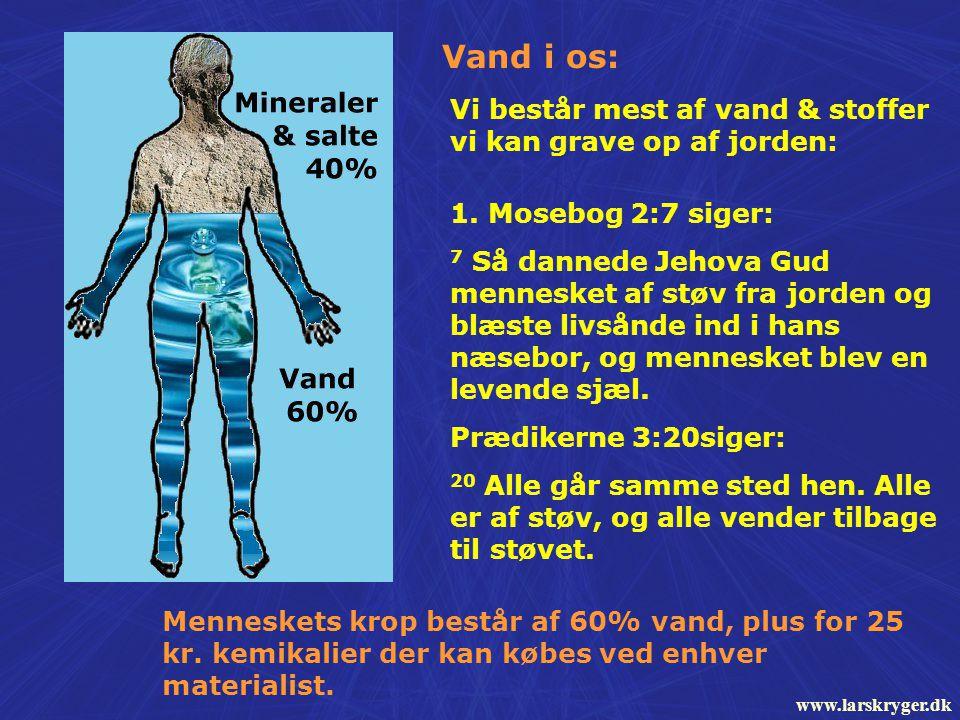 kroppen består af vand