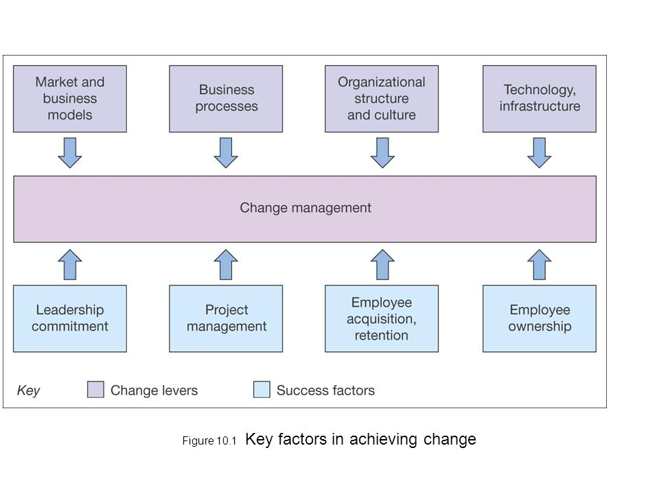 Figure 10.1 Key factors in achieving change