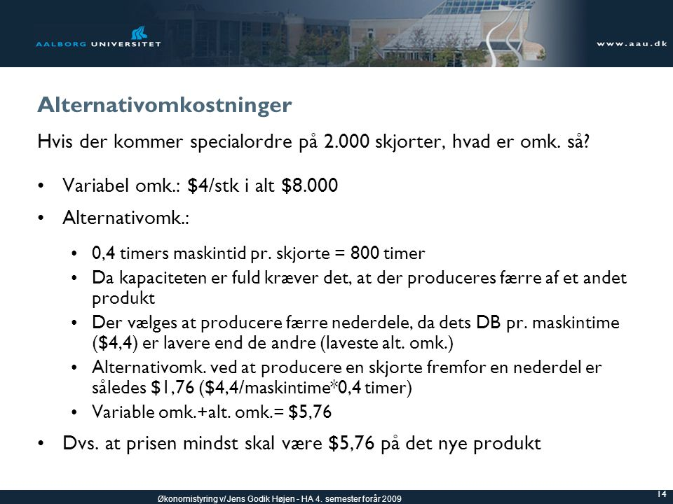 Alternativomkostninger