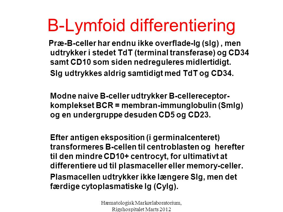 B-Lymfoid differentiering