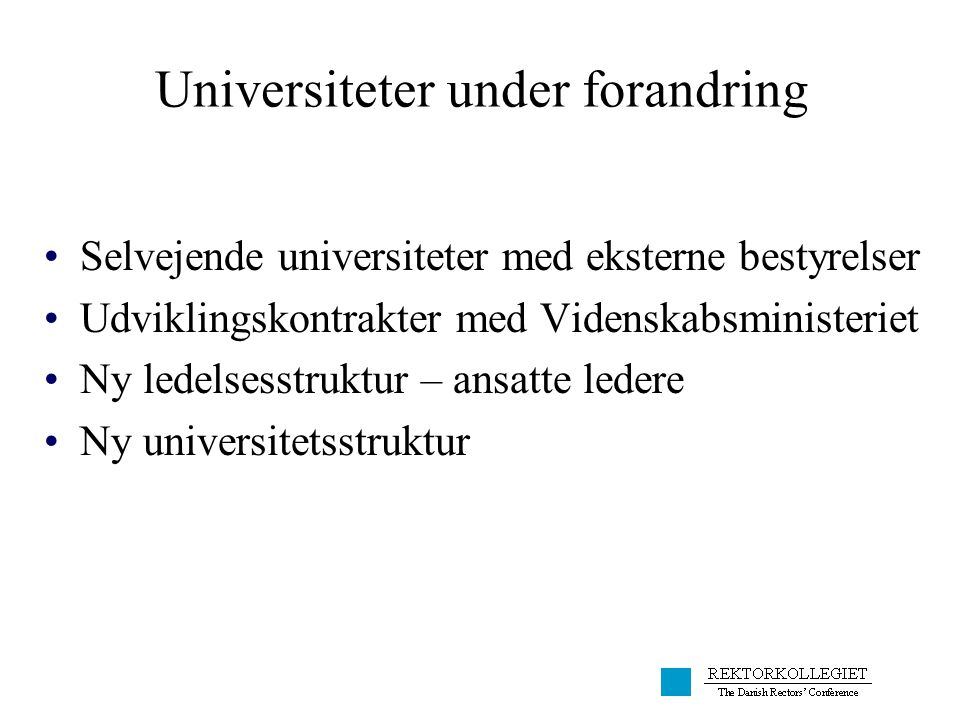 Universiteter under forandring