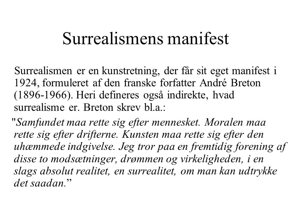 Surrealismens manifest