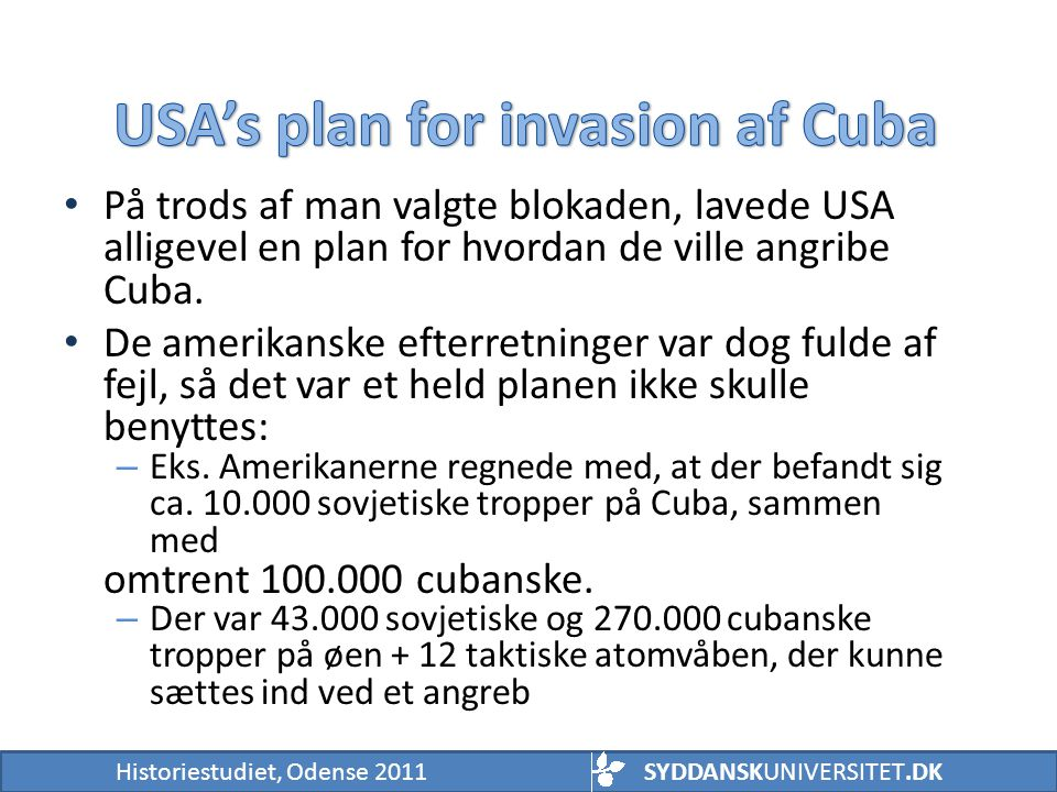 USA's plan for invasion af Cuba