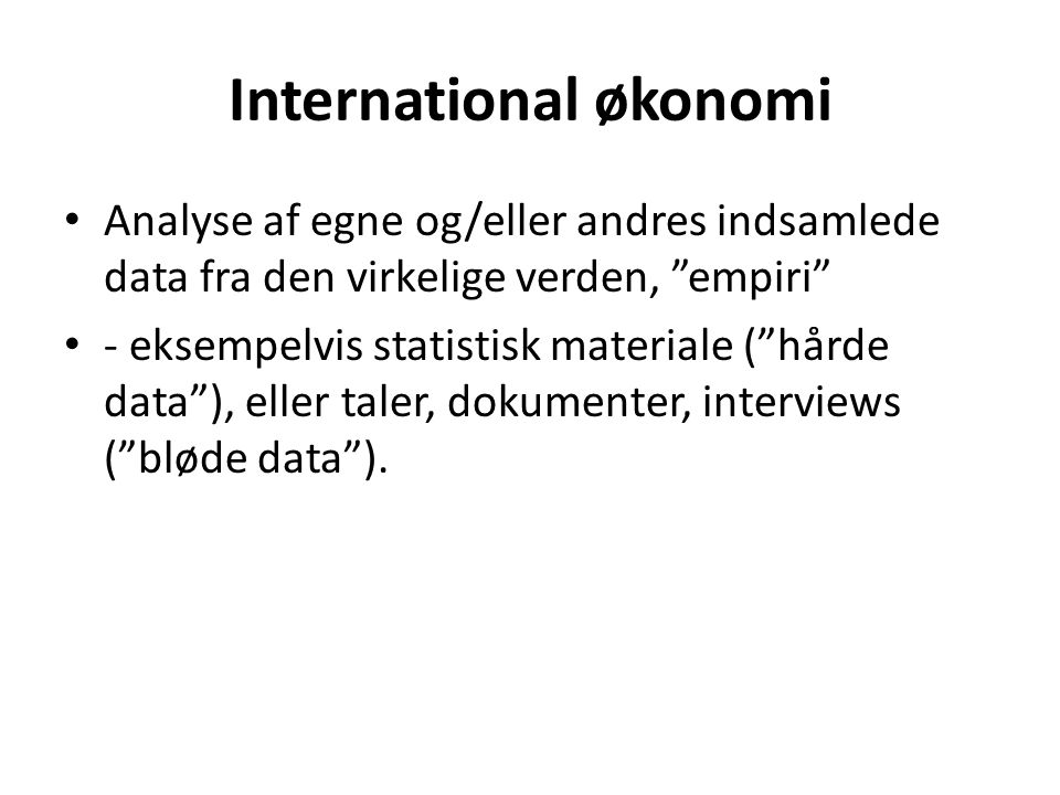 International økonomi