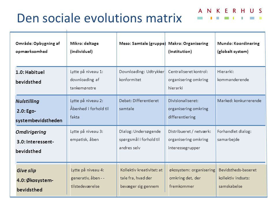 Den sociale evolutions matrix