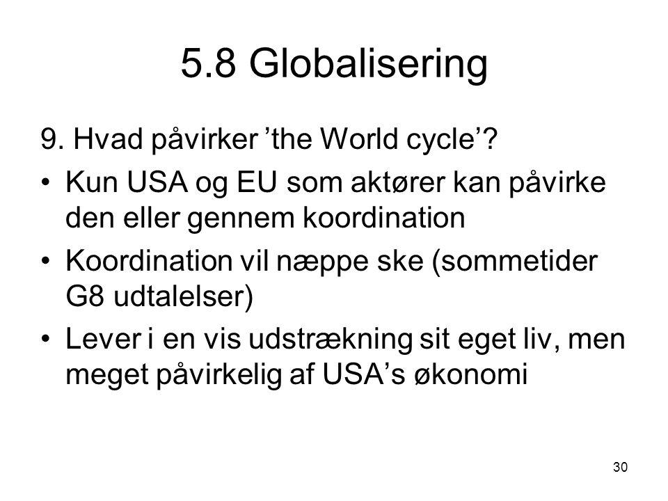 5.8 Globalisering 9. Hvad påvirker 'the World cycle'