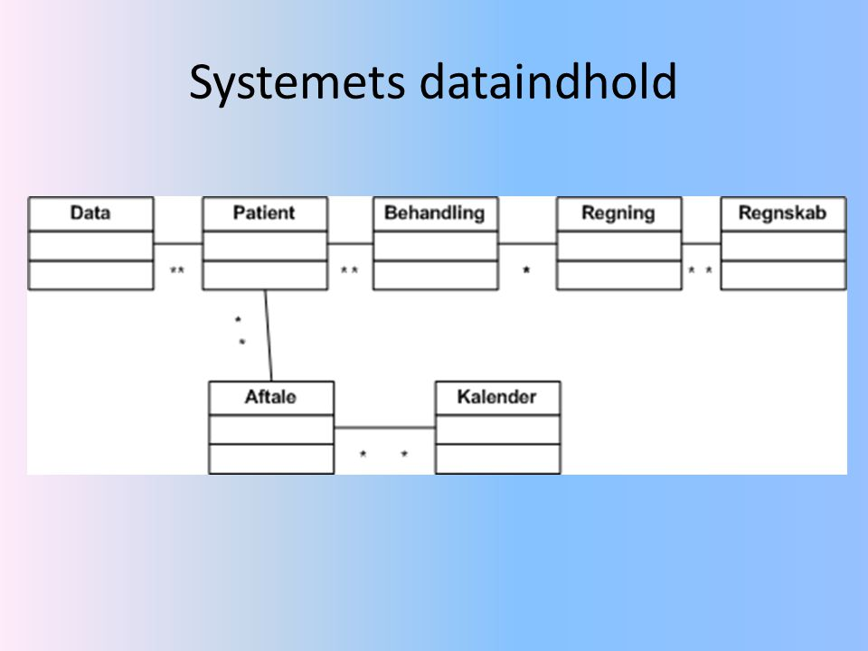 Systemets dataindhold