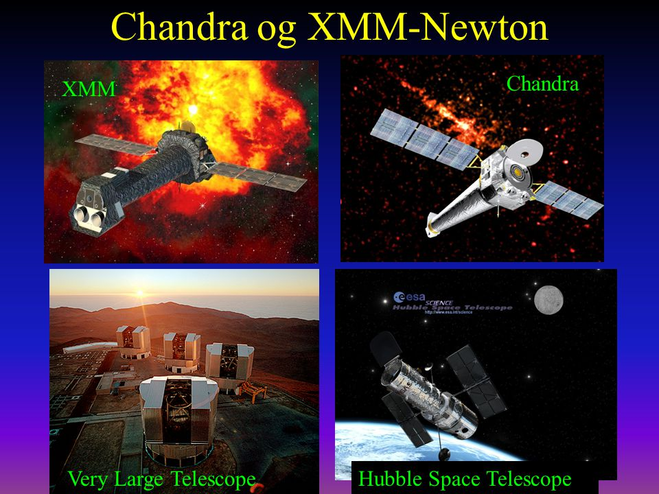 Chandra og XMM-Newton Chandra XMM Very Large Telescope