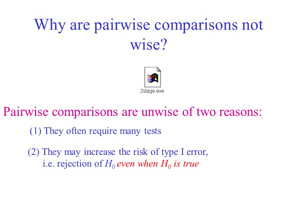 Why are pairwise comparisons not wise