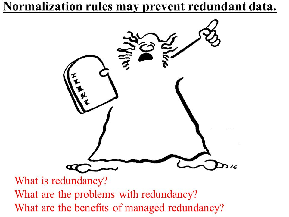 Normalization rules may prevent redundant data.