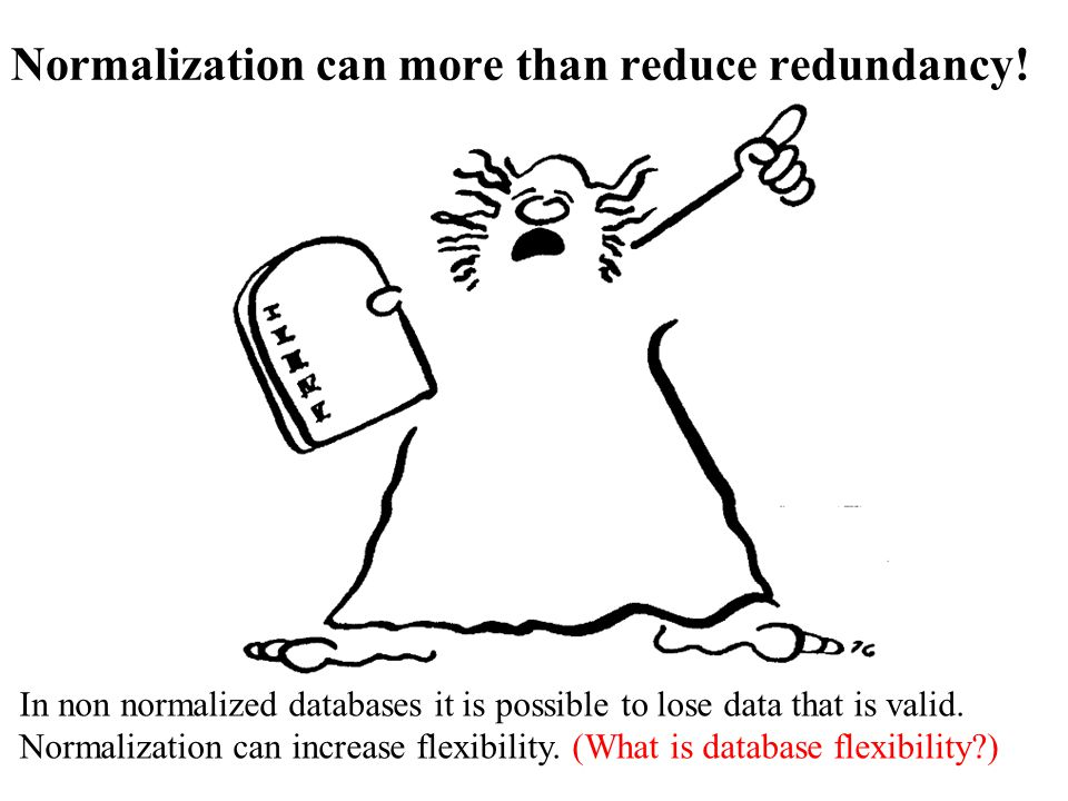 Normalization can more than reduce redundancy!