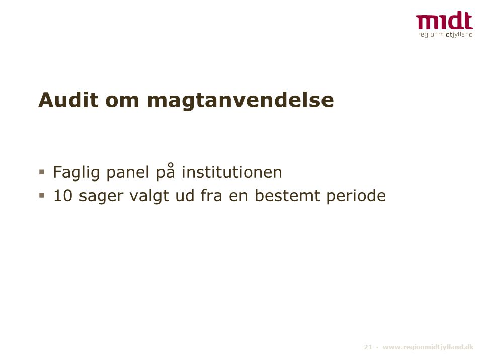 Audit om magtanvendelse