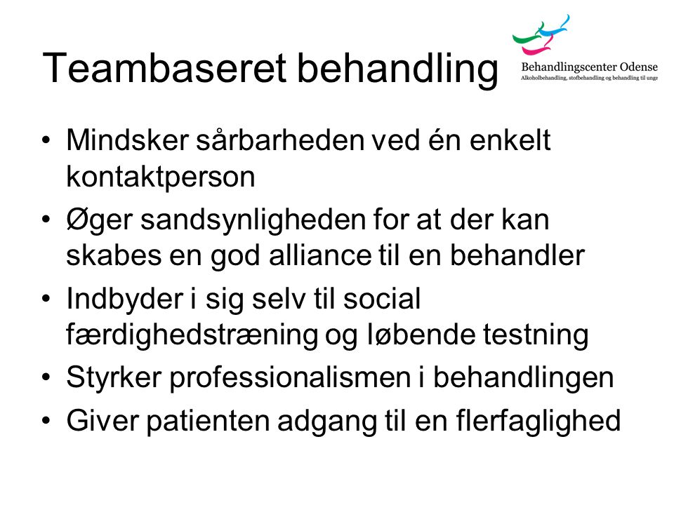 Teambaseret behandling
