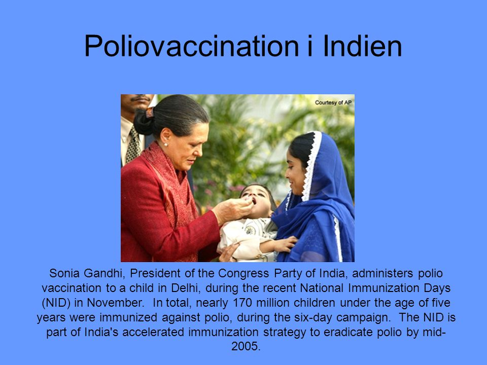 Poliovaccination i Indien