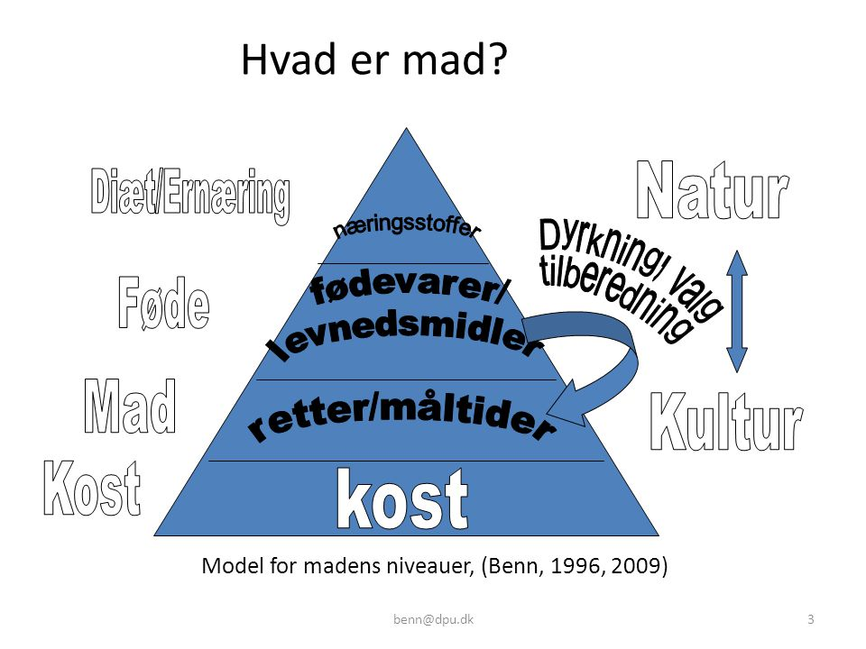 Model for madens niveauer, (Benn, 1996, 2009)