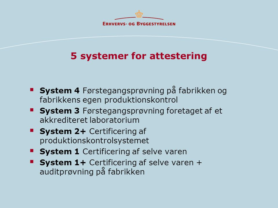 5 systemer for attestering