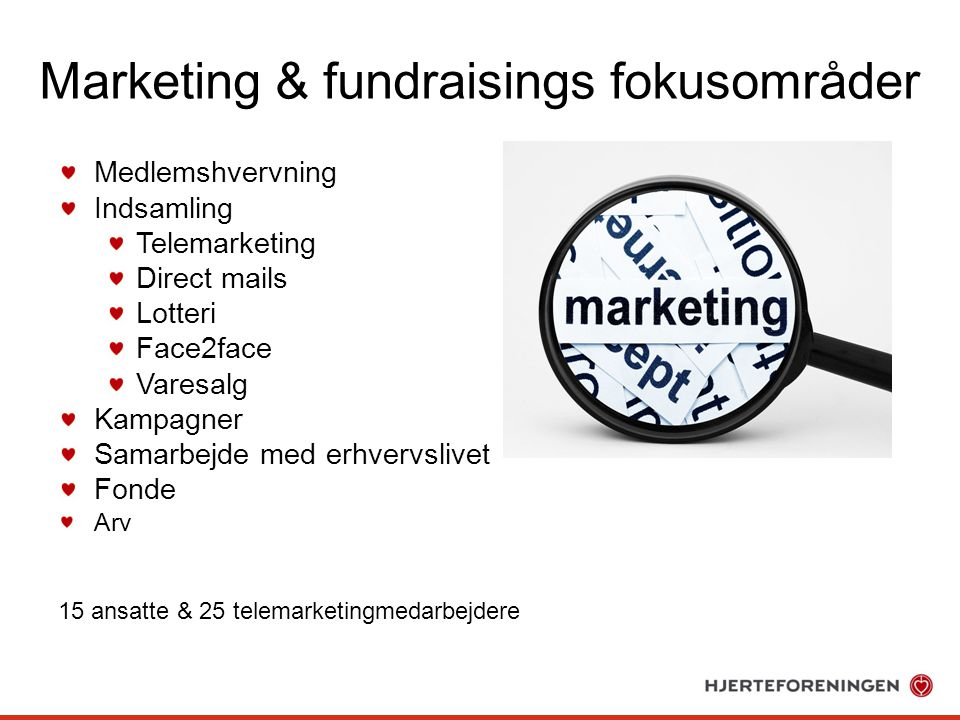 Marketing & fundraisings fokusområder