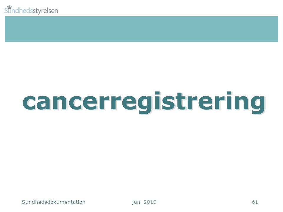 cancerregistrering cancerregistrering