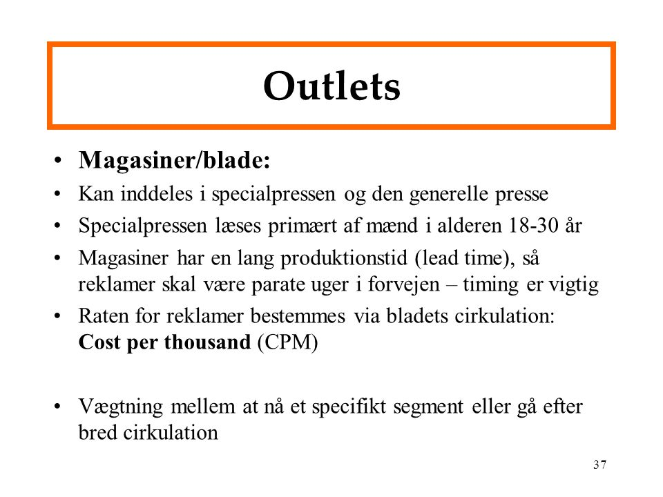 Outlets Magasiner/blade: