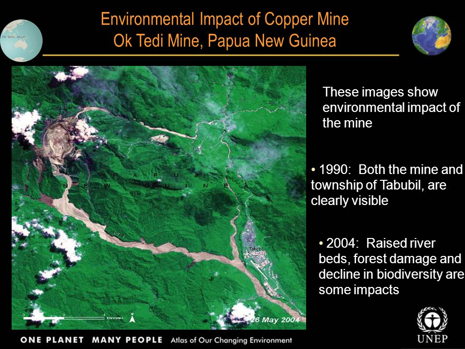 Environmental Impact of Copper Mine Ok Tedi Mine, Papua New Guinea