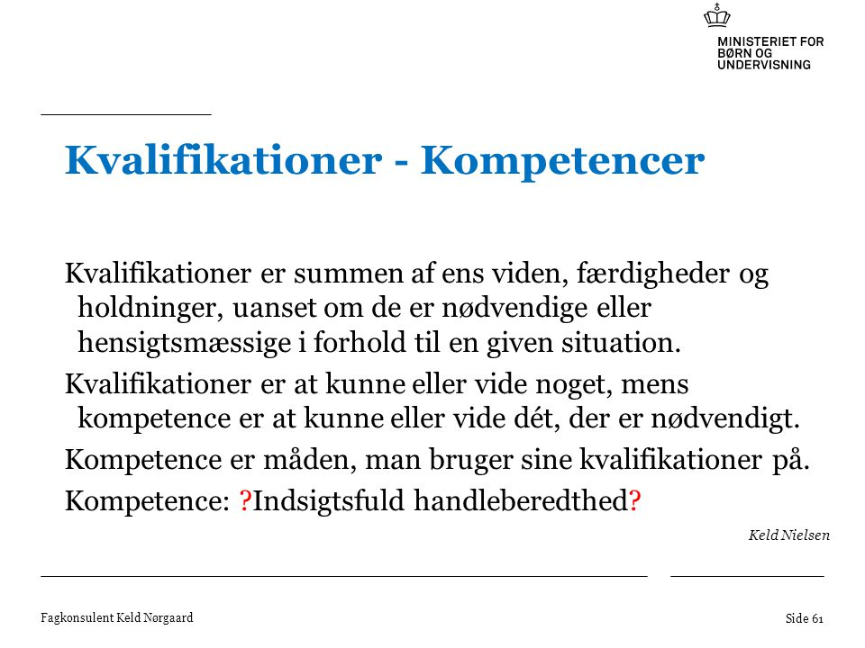 Kvalifikationer - Kompetencer