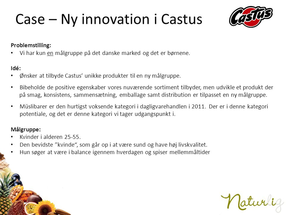 Case – Ny innovation i Castus