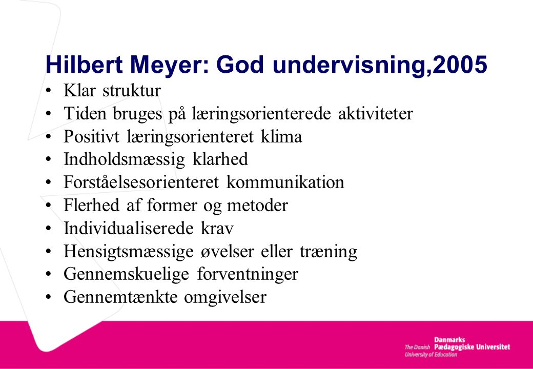 Hilbert Meyer: God undervisning,2005