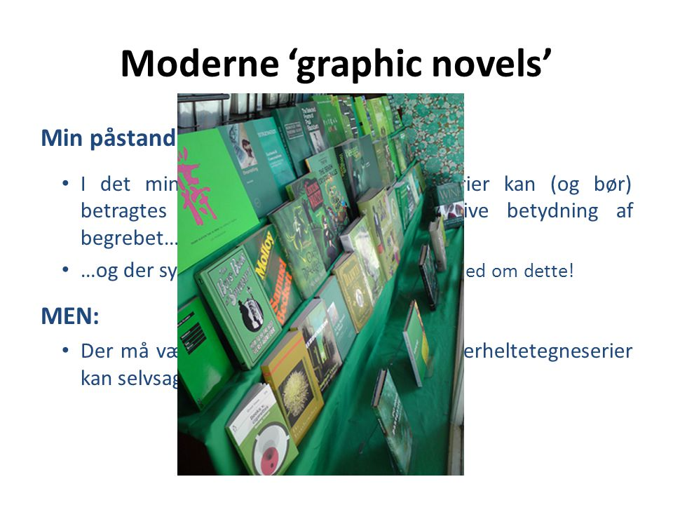 Moderne 'graphic novels'