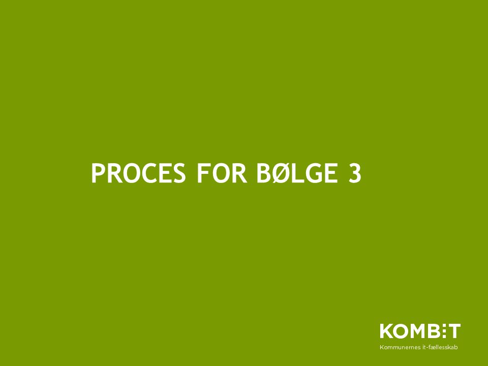 Proces for bølge 3