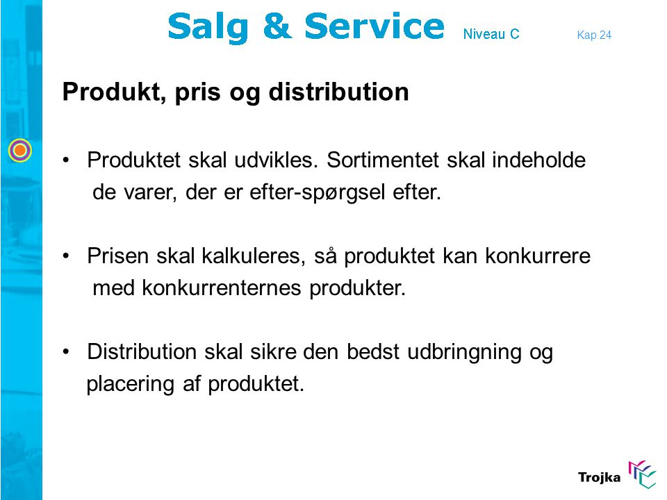 Produkt, pris og distribution