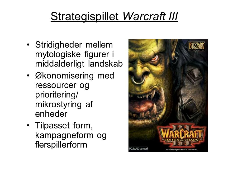 Strategispillet Warcraft III