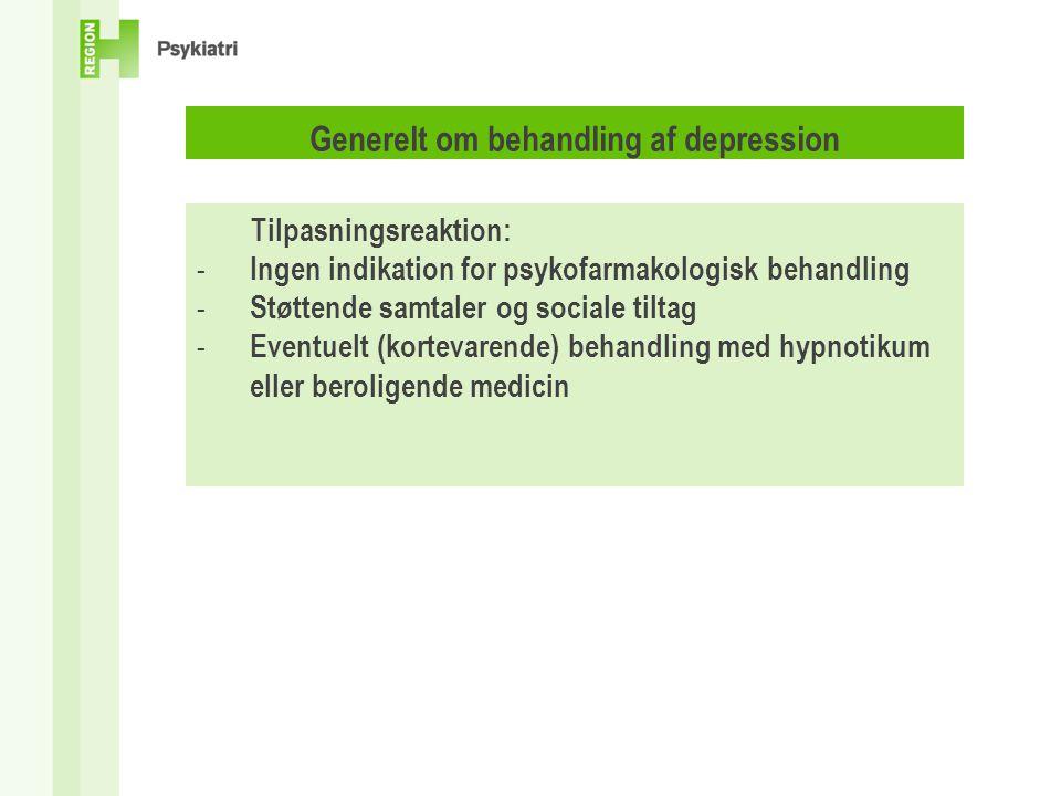 egentlig depression behandling