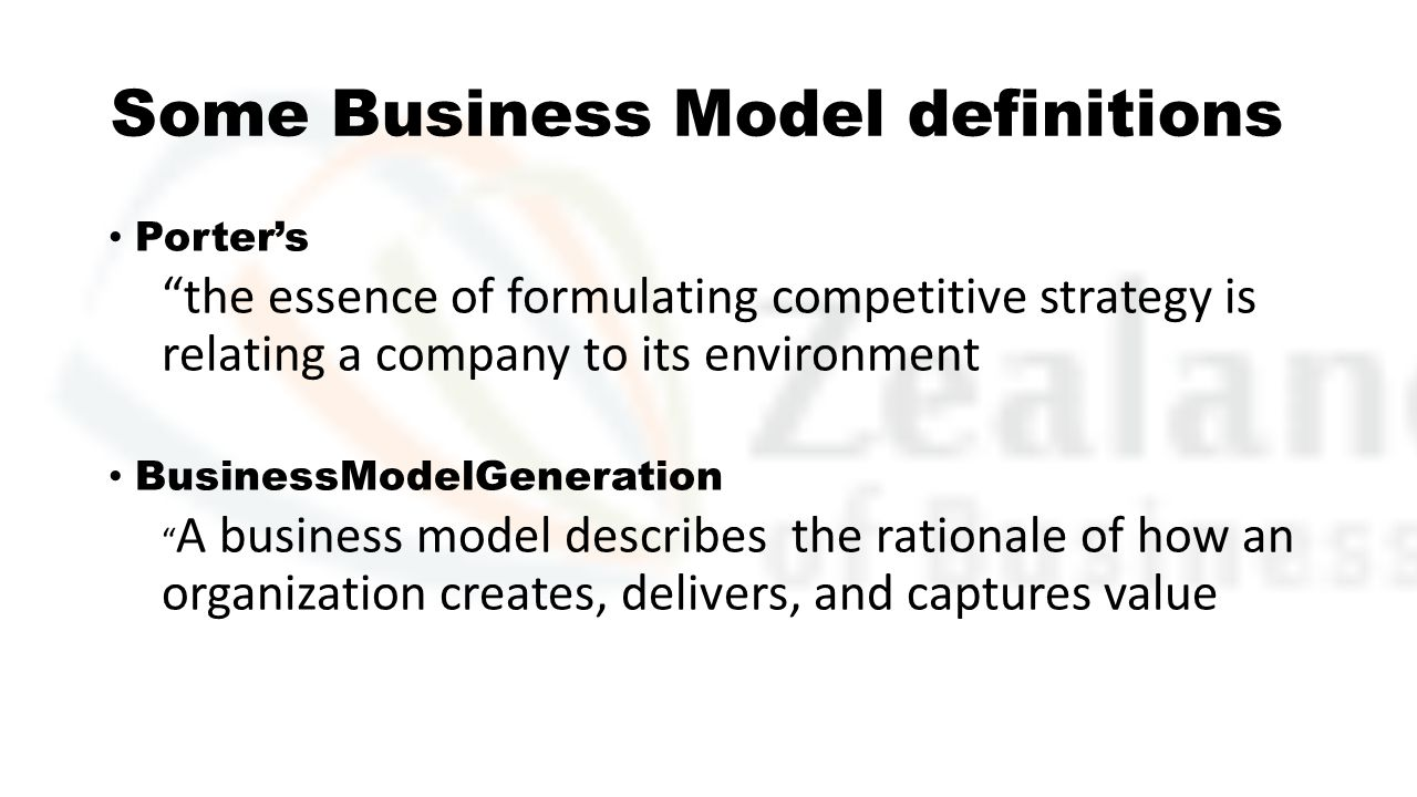 Some Business Model definitions
